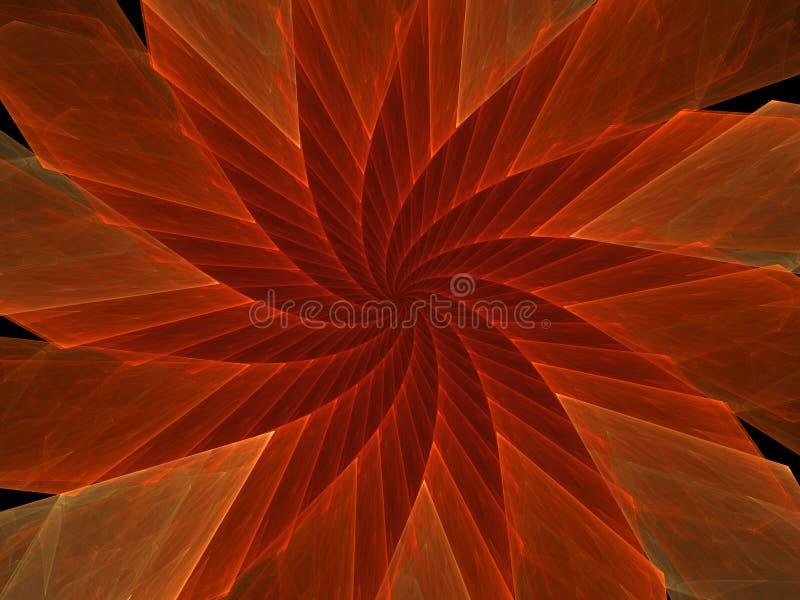 Flor vermelha do girador ilustração royalty free