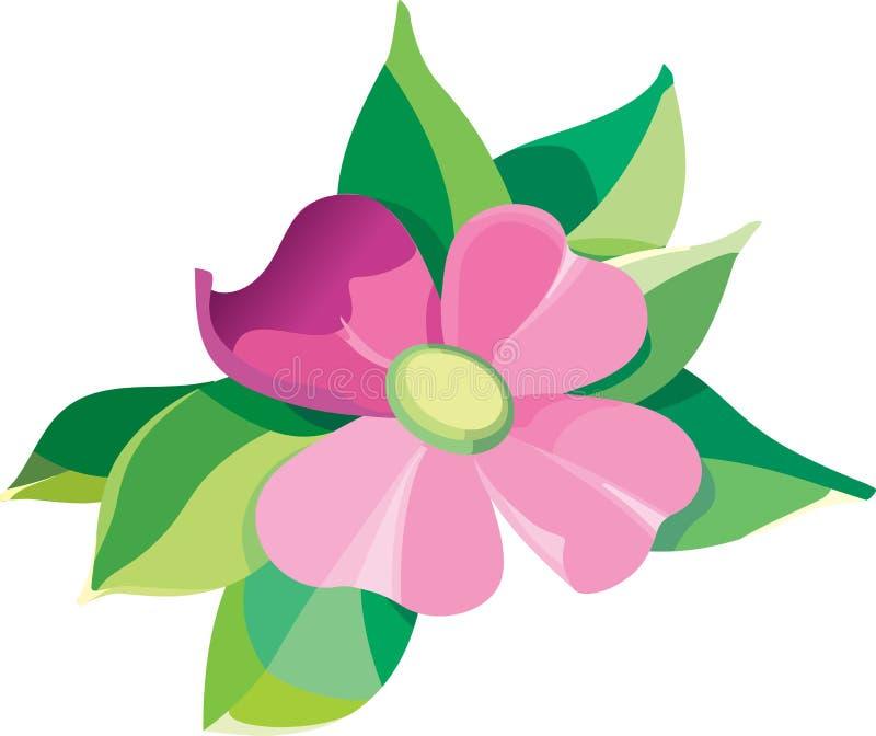 Flor violeta stock de ilustración