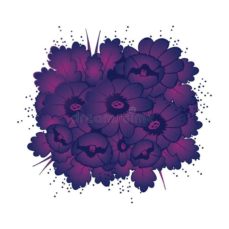 Flor violeta ilustração royalty free