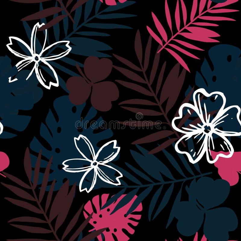 Flor y hojas de la selva fotos de archivo libres de regalías