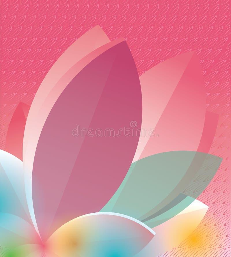 Flor y manchas blancas /negras coloridas stock de ilustración