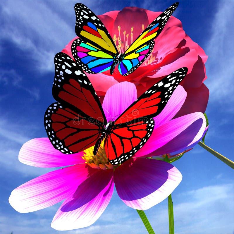 Flor y mariposa hermosas foto de archivo imagen 45476250 - Image papillon et fleur ...