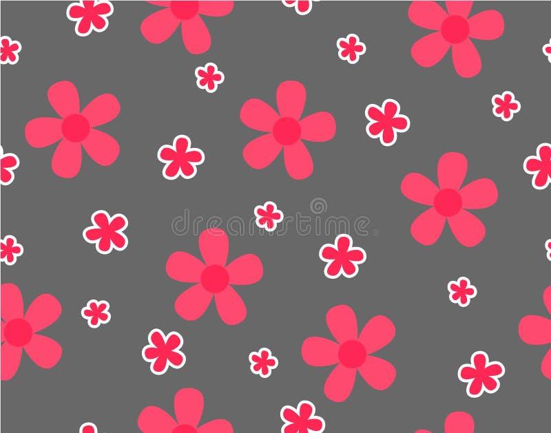 Flor y mini flor del tamaño en gris libre illustration