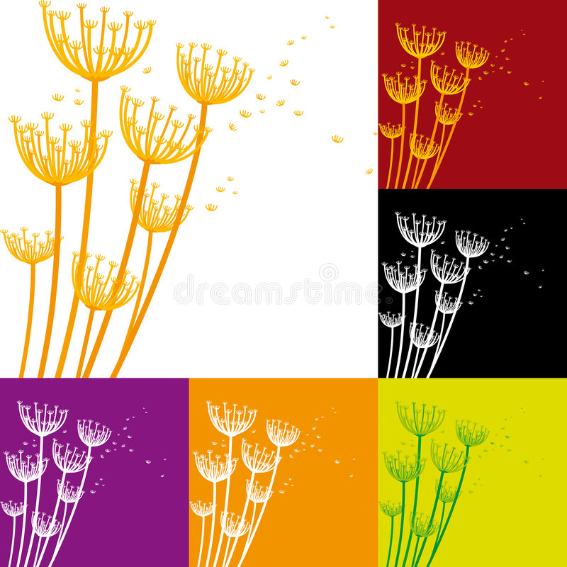 Flor02 (vector) royalty-vrije illustratie