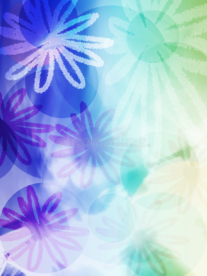 Flora abstract pattern royalty free illustration