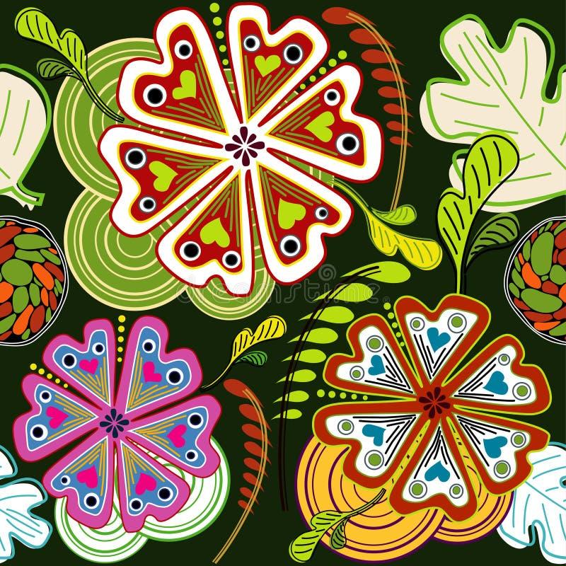 Flora abstract Seamless Design