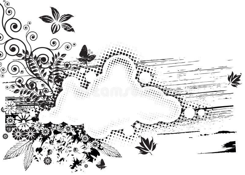 Flora de Grunge ilustração stock