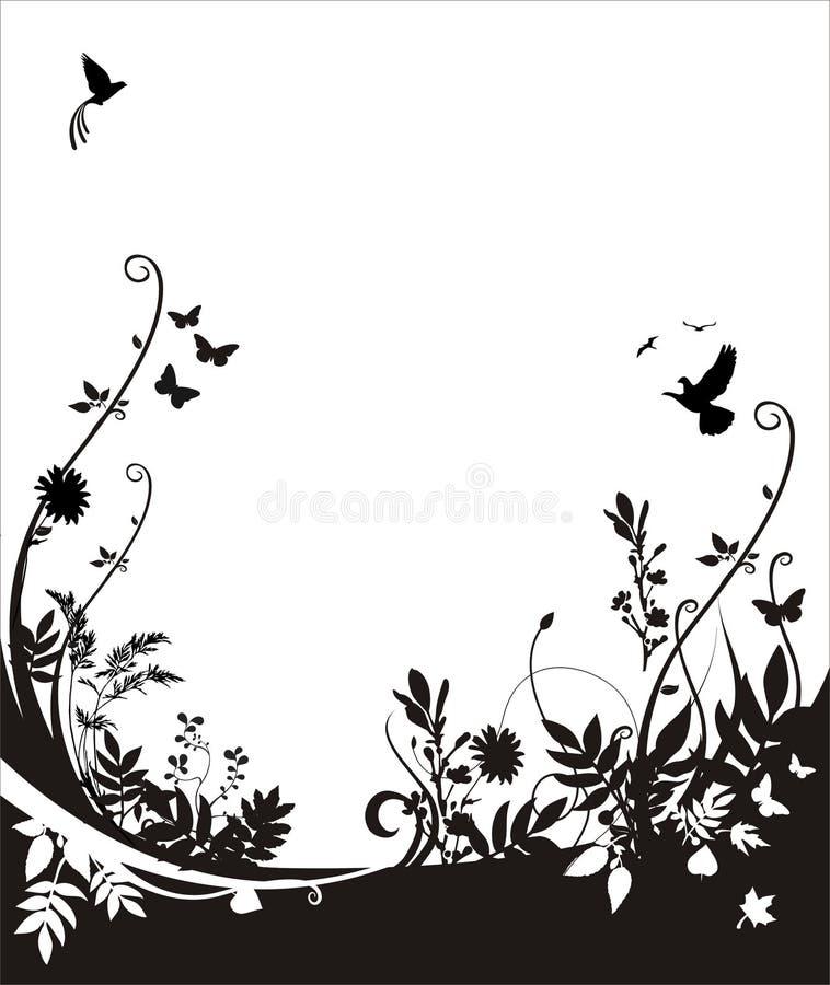 Flora e priorità bassa di fauna illustrazione vettoriale