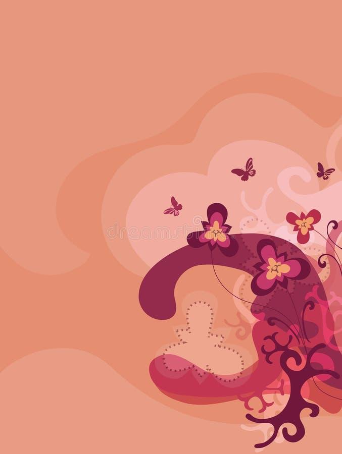 flora estilística stock de ilustración