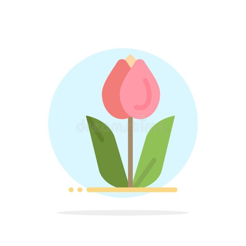 Flora, floral, flor, natureza, ícone da cor de Rose Abstract Circle Background Flat ilustração do vetor