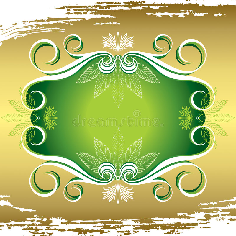 Download Flora frame stock vector. Image of flourishes, gold, nature - 4847233