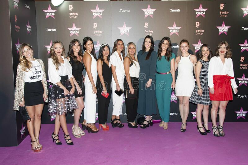 Flora González, Aranzazu Santos, Carmen Corazzini, Sonia Medina, Conchi Gil, Silvia Martínez, Giovanna González, Eva Rojas, Maw royalty free stock photography