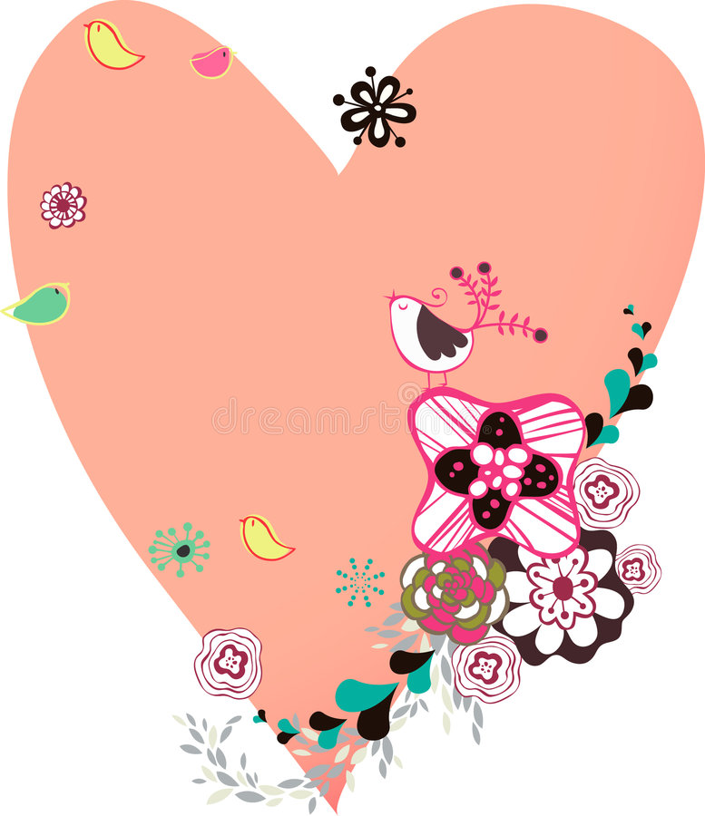 Download Flora Love Shape Card Royalty Free Stock Photo - Image: 9014725