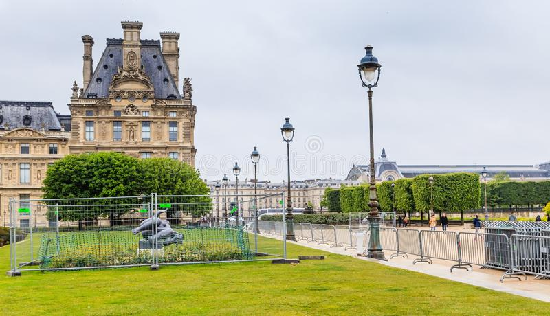 Flora Pavilion. The Louvre. The Tuileries Park. Paris. France stock photography