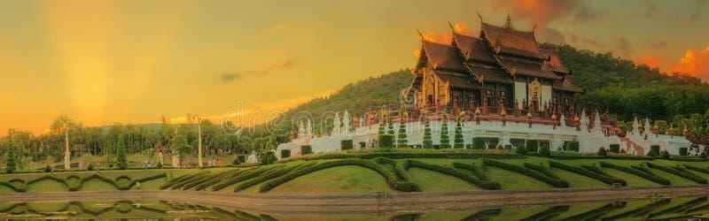 Flora Ratchaphruek Park real, Chiang Mai, Tailândia fotos de stock