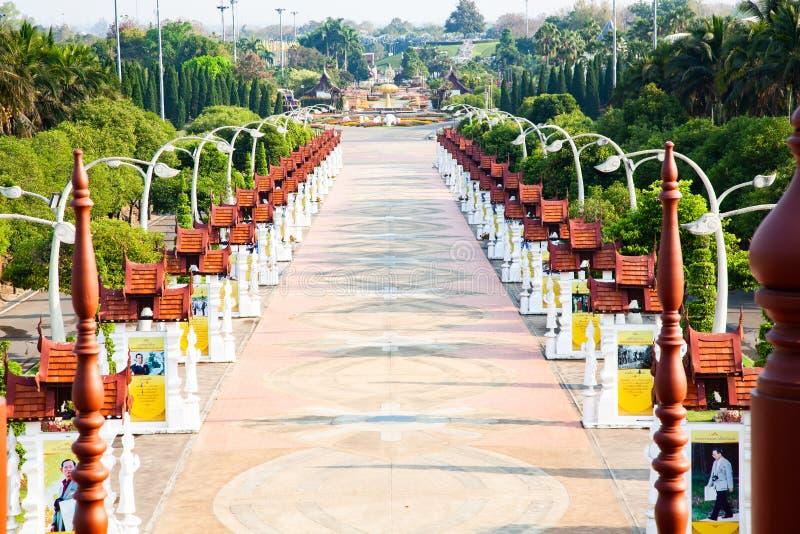 Flora Ratchaphruek Park real, Chiang Mai, Tail?ndia fotos de stock royalty free
