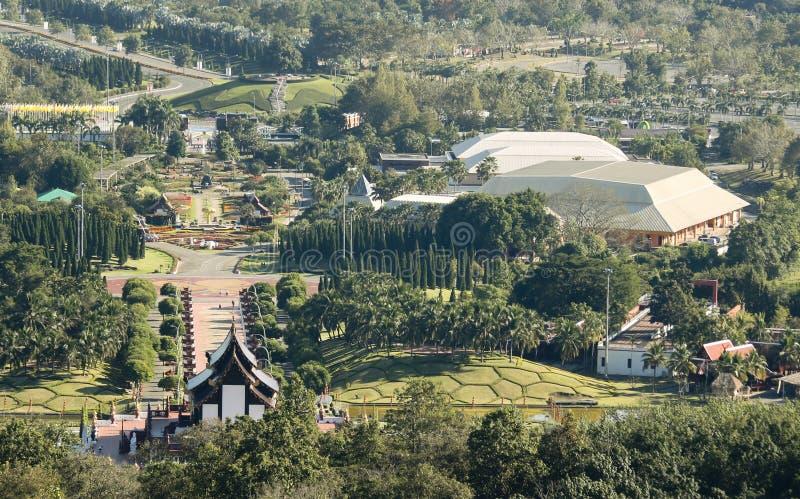 Flora Ratchaphruek Shot real aérea, Chiang Mai, Tailândia fotos de stock royalty free