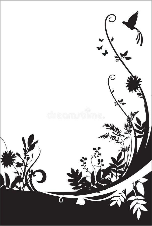 Flora und Faunahintergrund stock abbildung