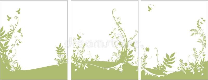 Flora und Faunahintergrund vektor abbildung