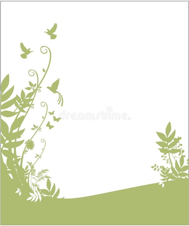 Flora und Faunahintergrund lizenzfreie abbildung