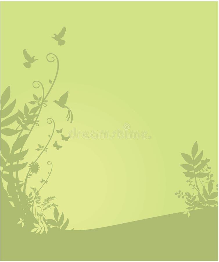 Flora Y Fondo De La Fauna Imagen de archivo libre de regalías