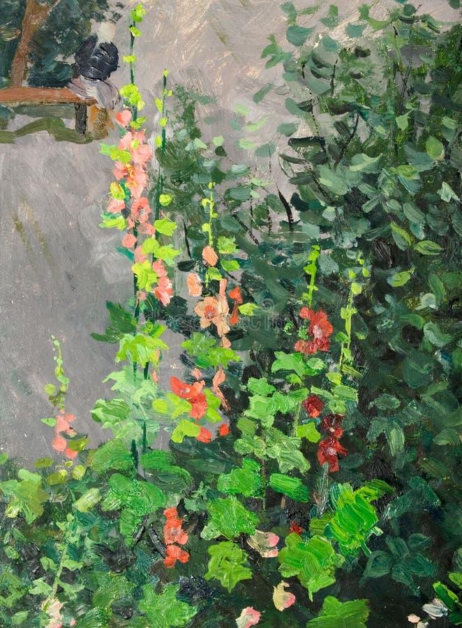 Floración de la malva ilustración del vector