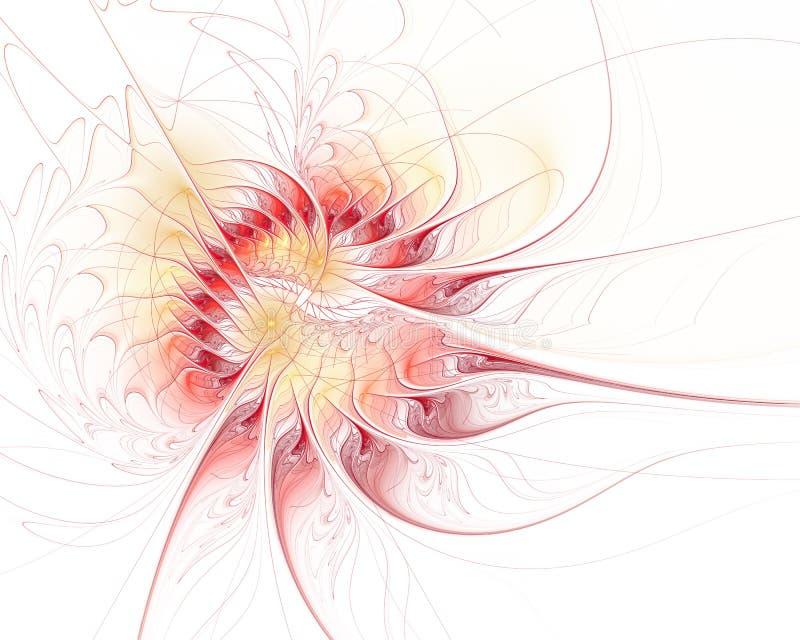 Floraci?n futurista abstracta El omputer de alta resolución moderno del ¡de Ð generó abstracto stock de ilustración