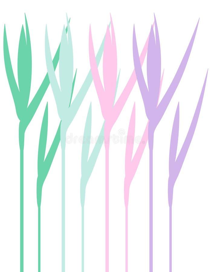 florafjäder royaltyfri illustrationer