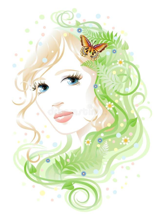 florakvinna royaltyfri illustrationer