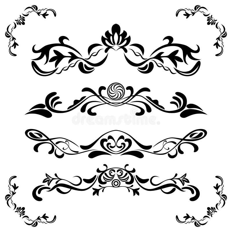 Floralãelements Set vektor abbildung