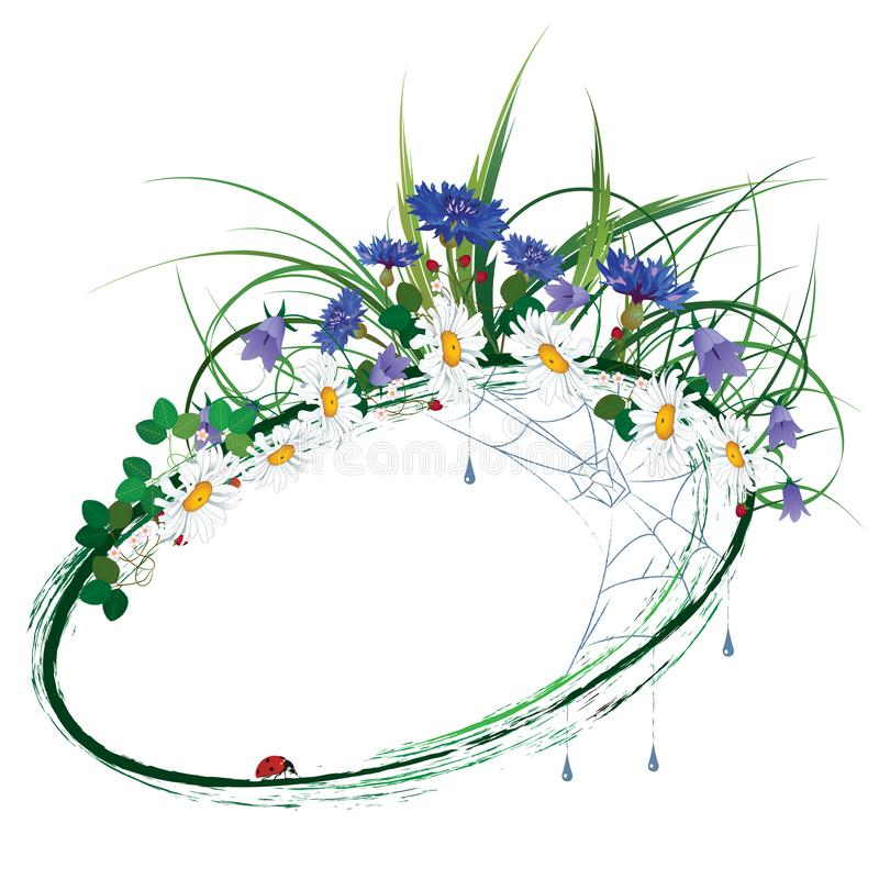floral σειρά πλαισίων πλαισίων απεικόνιση αποθεμάτων
