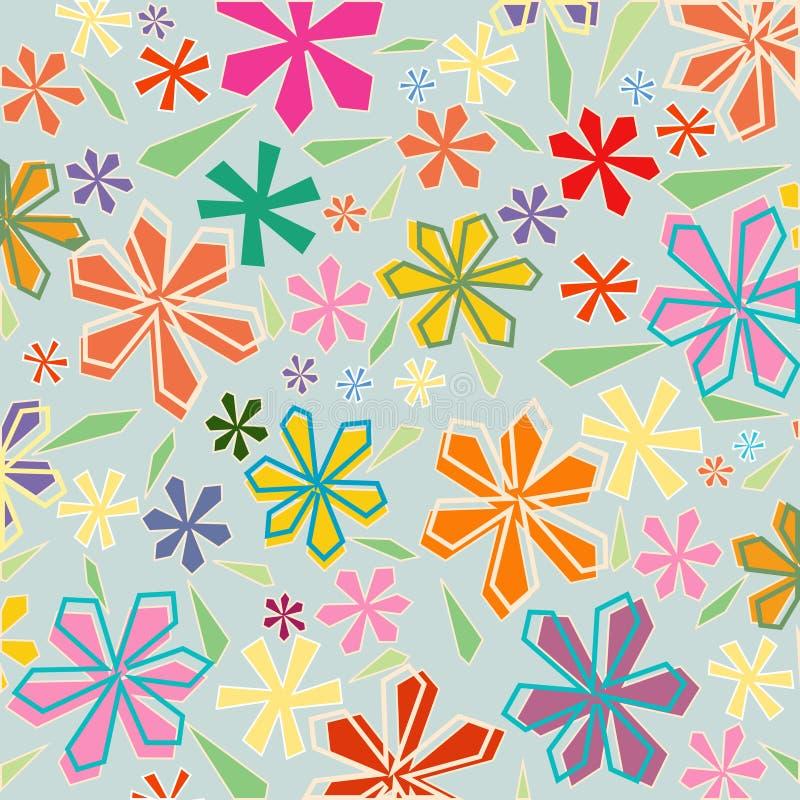 floral άνευ ραφής ανασκόπησης διανυσματική απεικόνιση
