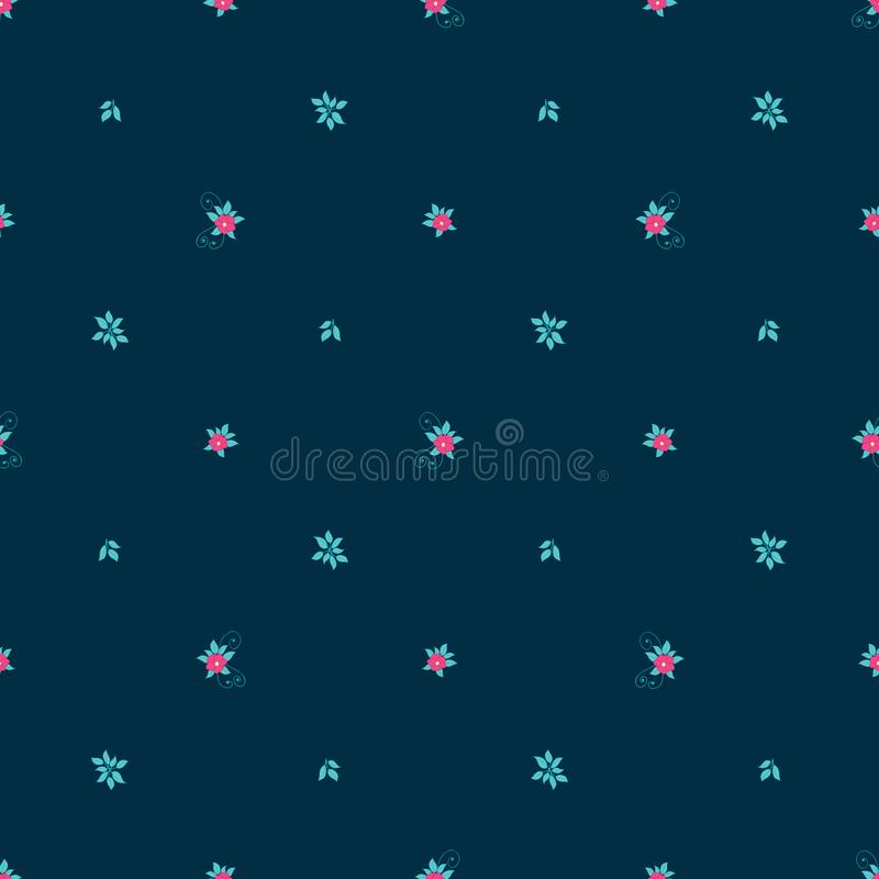 Floral άνευ ραφής διανυσματικό σχέδιο με τα μικροσκοπικά λουλούδια ελεύθερη απεικόνιση δικαιώματος