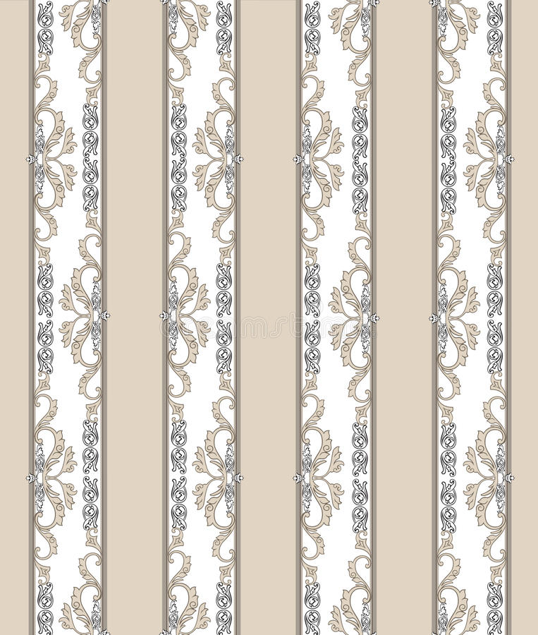 Floral άνευ ραφής εκλεκτής ποιότητας υπόβαθρο Ριγωτή αναδρομική σύσταση ελεύθερη απεικόνιση δικαιώματος
