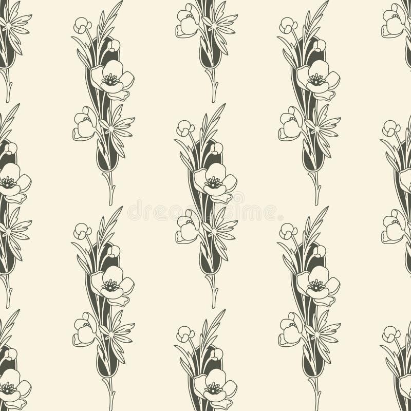 floral άνευ ραφής διάνυσμα ανασ& απεικόνιση αποθεμάτων