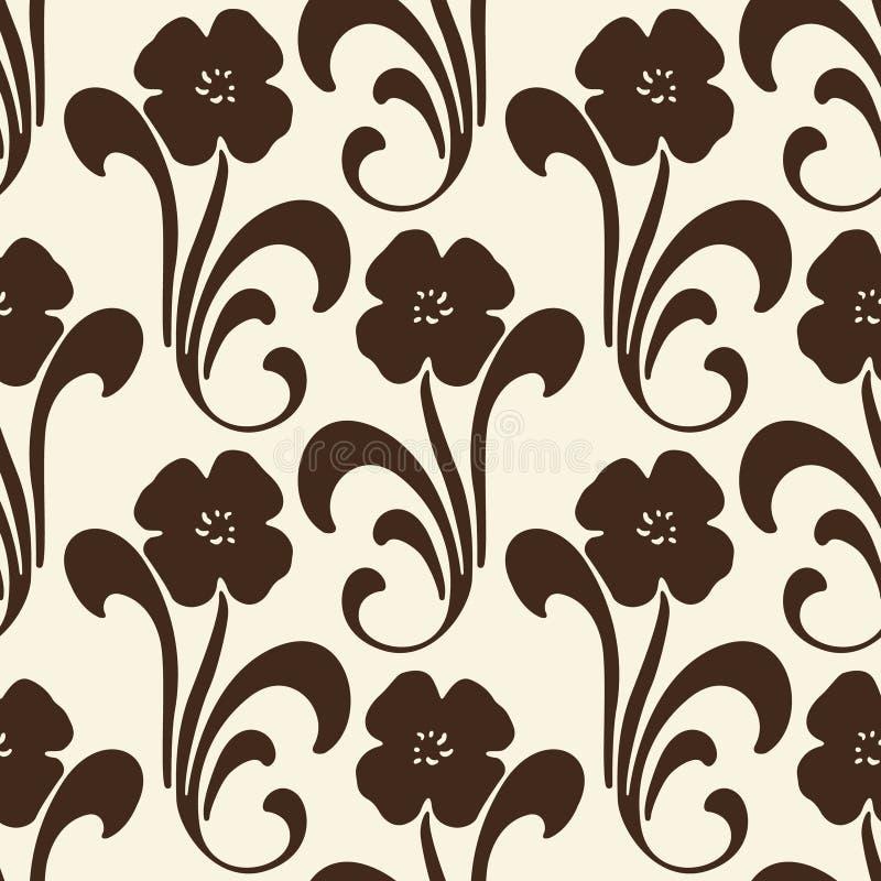 floral άνευ ραφής διάνυσμα ανασ& ελεύθερη απεικόνιση δικαιώματος