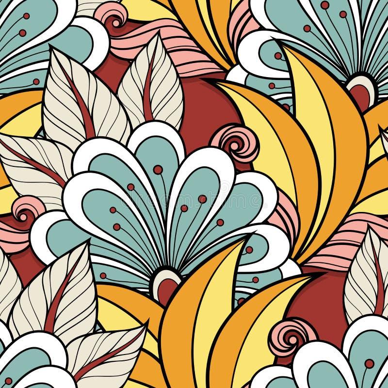 floral άνευ ραφής διάνυσμα προτύ& διανυσματική απεικόνιση