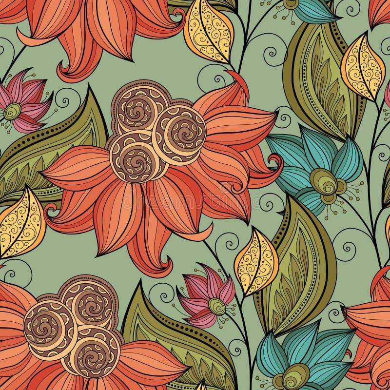 floral άνευ ραφής διάνυσμα προτύ&p απεικόνιση αποθεμάτων