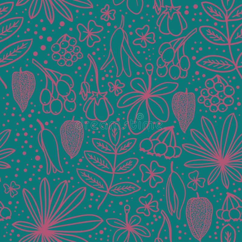 Floral άνευ ραφής διάνυσμα υποβάθρου σχεδίων απεικόνιση αποθεμάτων