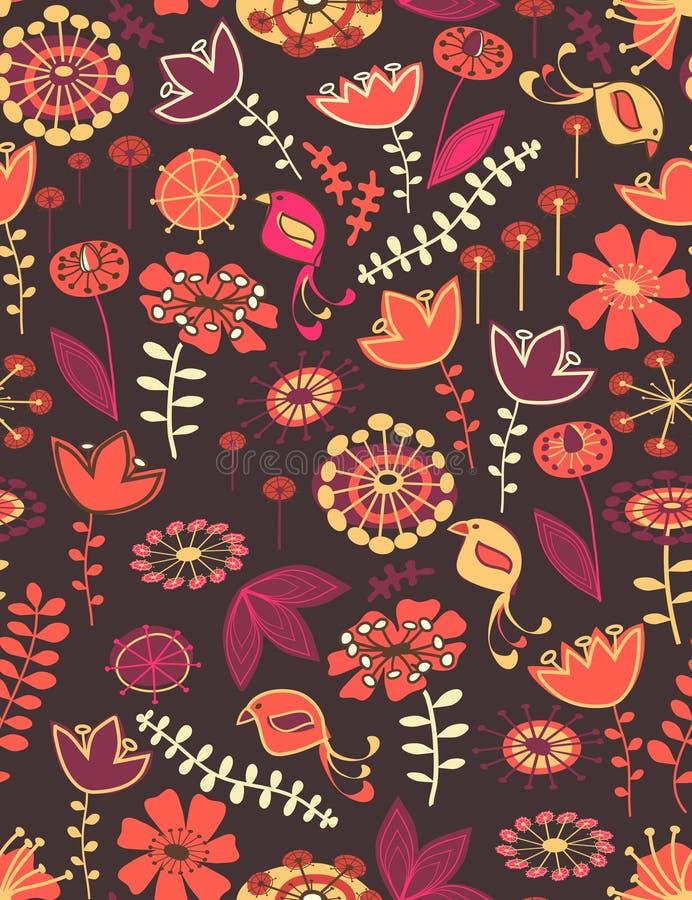 floral άνευ ραφής ιδιότροπος πρ&o διανυσματική απεικόνιση