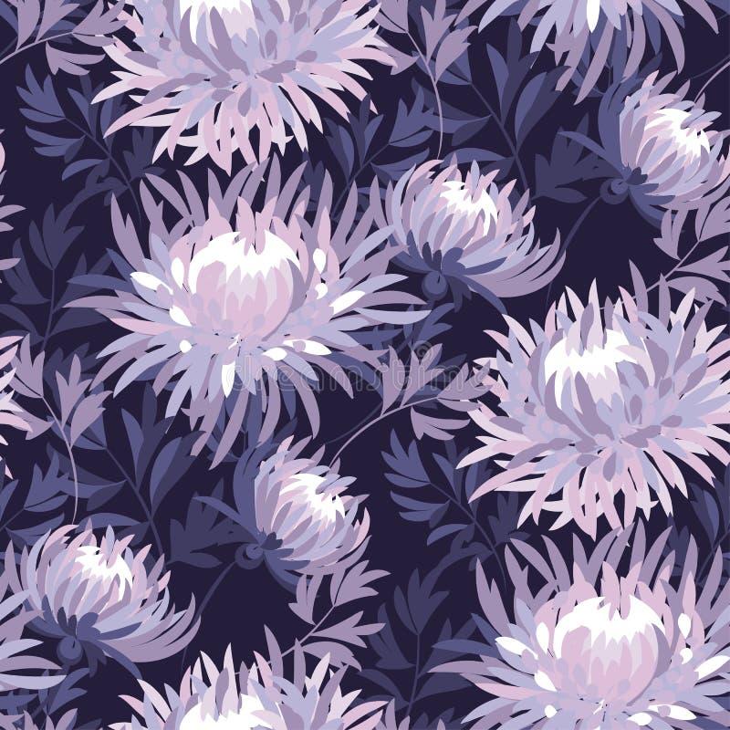 Floral άνευ ραφής πρότυπο χρώματος ελεύθερη απεικόνιση δικαιώματος