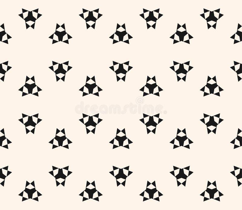 Floral άνευ ραφής σχέδιο με τους απλούς γεωμετρικούς αριθμούς, τρίγωνα απεικόνιση αποθεμάτων