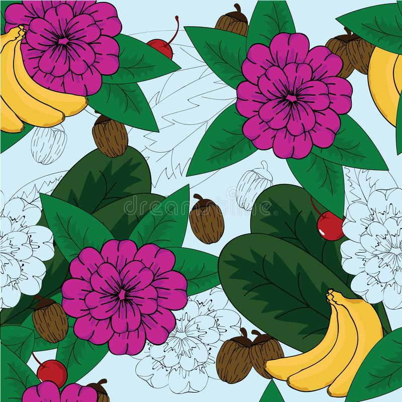 floral άνευ ραφής σχεδίου διανυσματική απεικόνιση