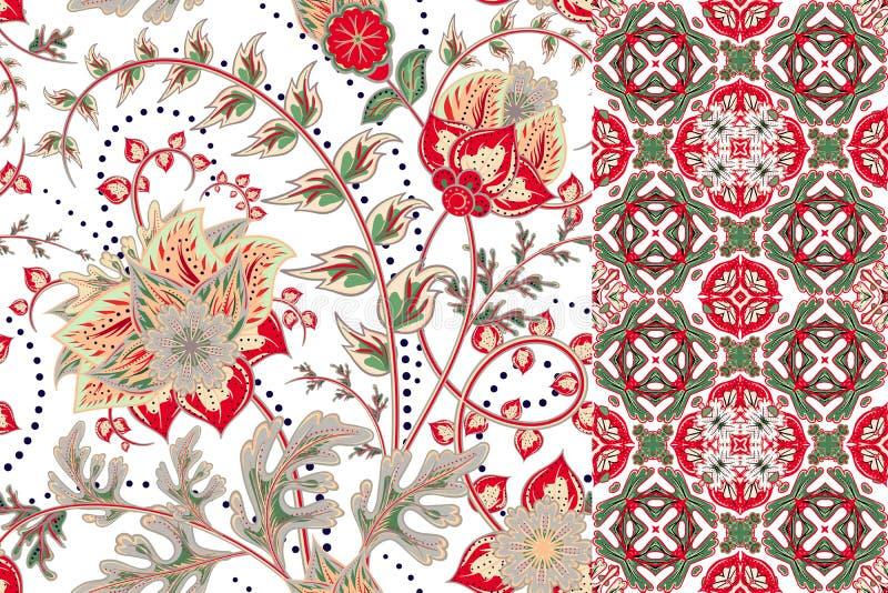 floral άνευ ραφής σύνολο προτύπ&ome Εκλεκτής ποιότητας υπόβαθρα και σύνορα λουλουδιών με την άδεια τα στοιχεία σχεδιαστών ντεκόρ  στοκ φωτογραφίες με δικαίωμα ελεύθερης χρήσης