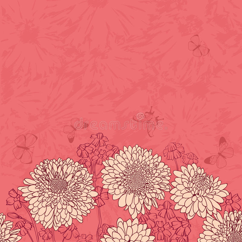 floral άνευ ραφής ταπετσαρία ελεύθερη απεικόνιση δικαιώματος