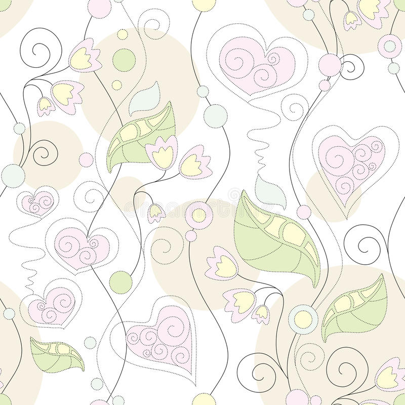 floral άνευ ραφής ελεύθερη απεικόνιση δικαιώματος