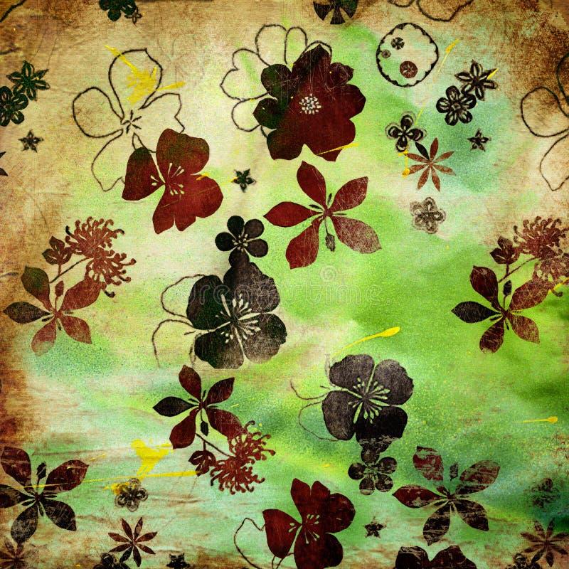 Floral έγγραφο ελεύθερη απεικόνιση δικαιώματος