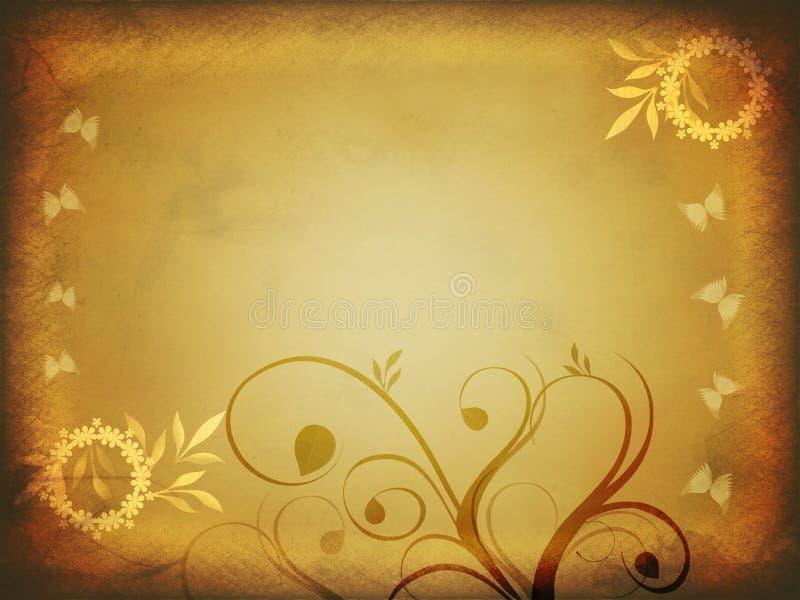 floral έγγραφο grunge απεικόνιση αποθεμάτων