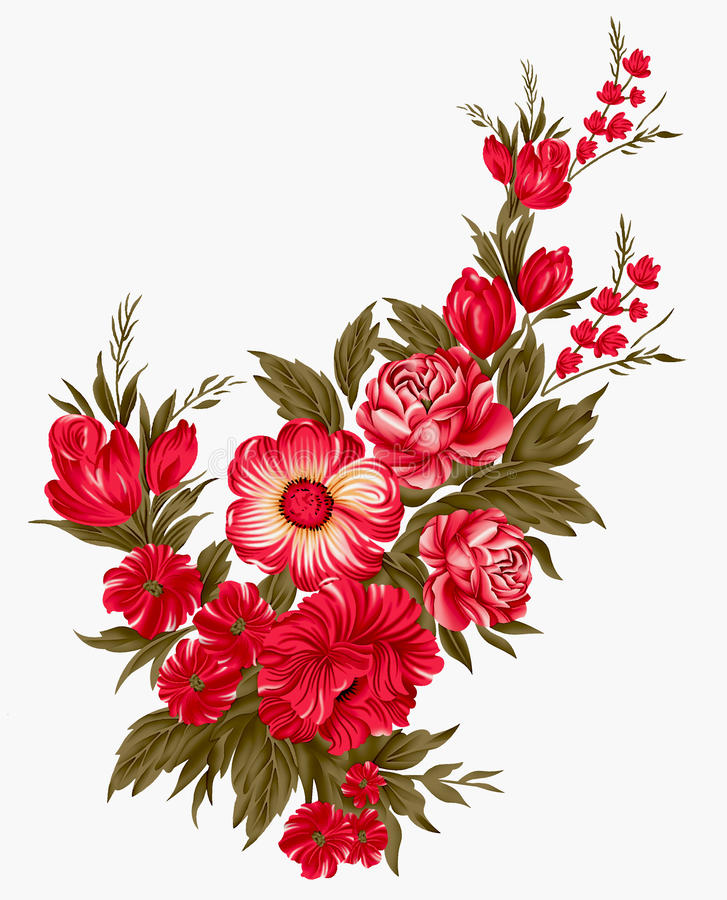 Floral δέσμη στοκ εικόνα με δικαίωμα ελεύθερης χρήσης