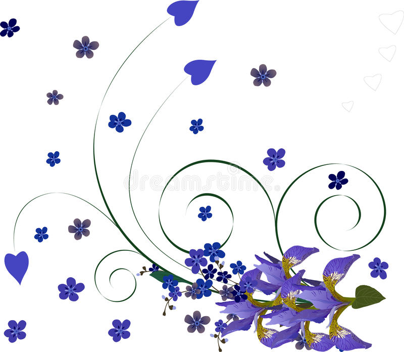 floral ίριδα ανασκόπησης ελεύθερη απεικόνιση δικαιώματος